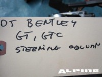 Bentley Continental GT Steering column assembly parts
